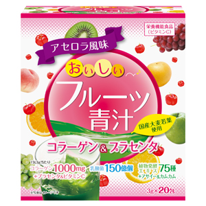 Fruits and Young Barley Leaves Powder Collagen & Placenta 20 Bags