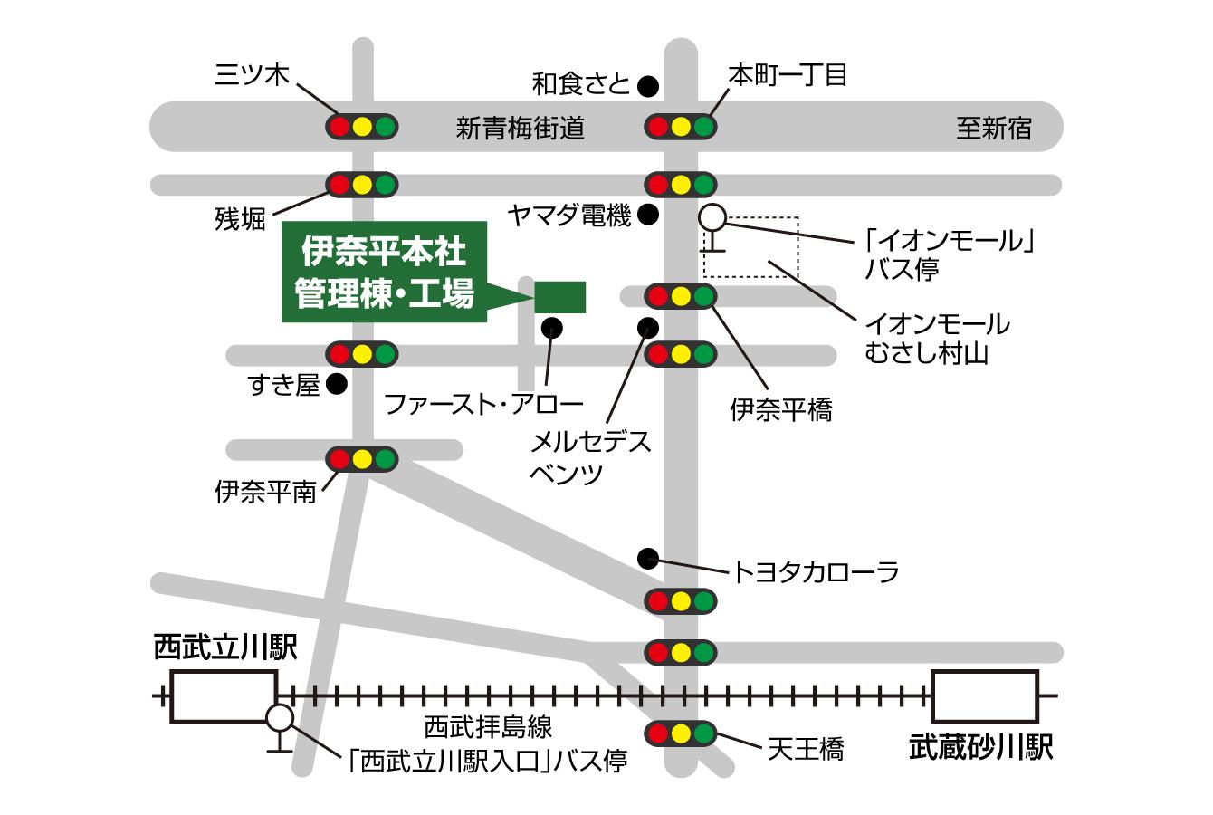 ユーワ本社地図